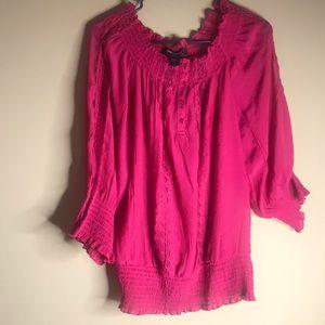 Ashely Steward Size 12 Rose pinkish Red Blouse